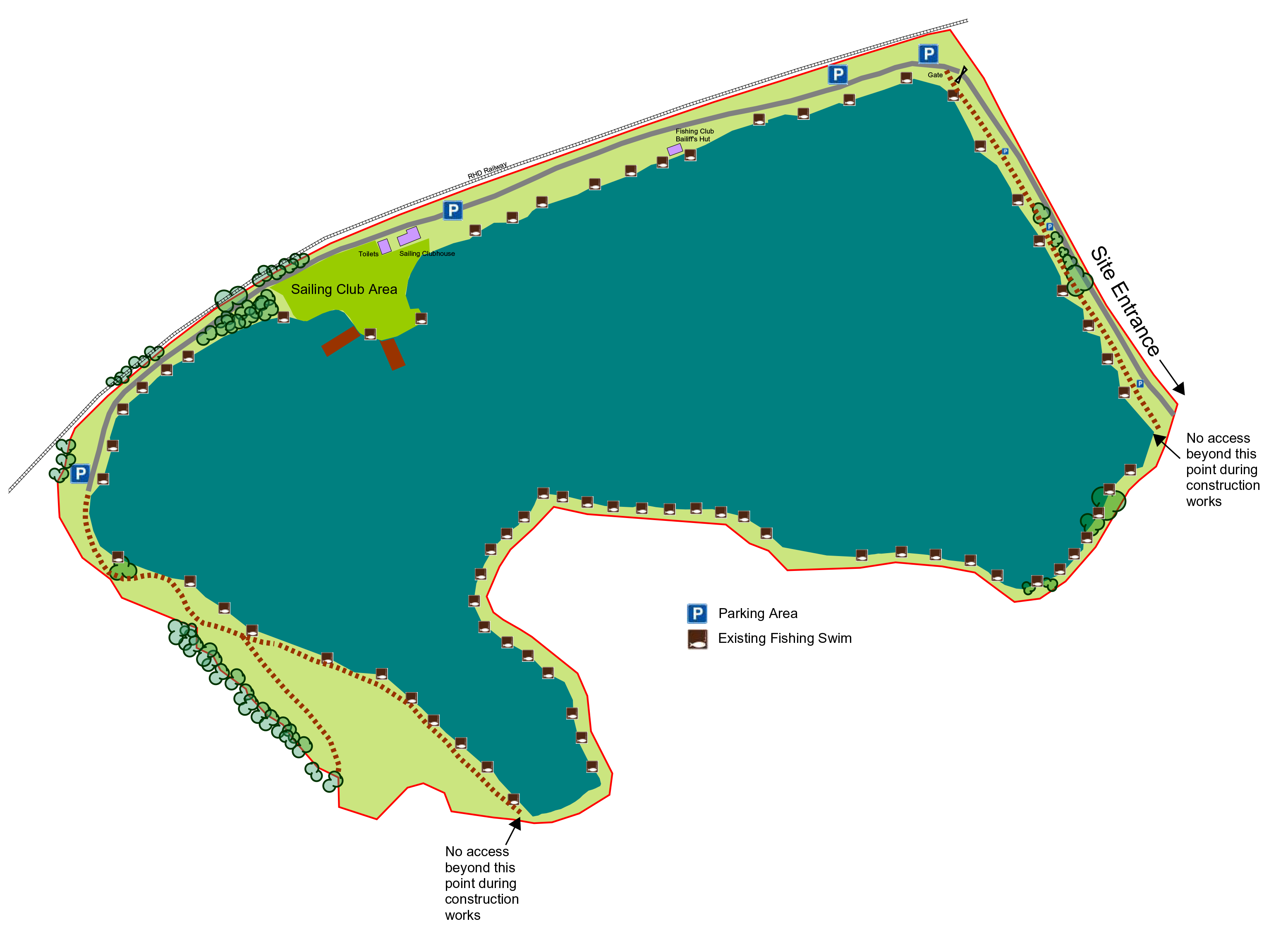 Martello lake layout